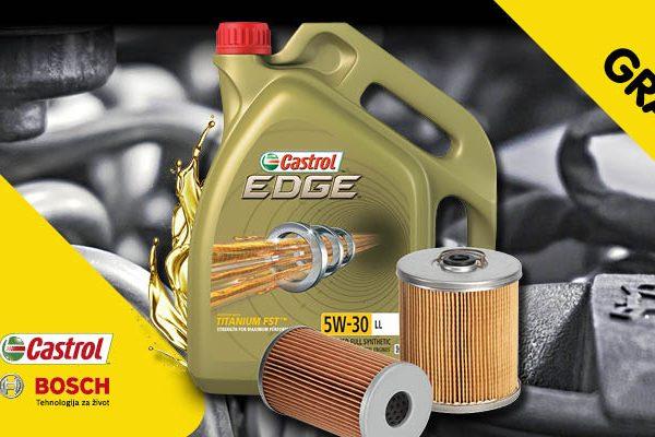 Besplatan filter uz izmjenu motornog ulja Castrol u Unitrade mreži servisa