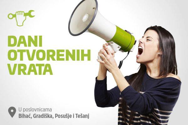 Dani otvorenih vrata – servisna akcija u centrima Bihać, Gradiška, Posušje i Tešanj