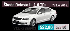 Škoda Octavia III 1.6 TDi veliki servis
