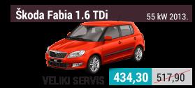 Škoda Fabia 1.6 TDi, 55 kW, 2013. veliki servis