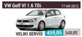 VW Golf 6 1.6 TDi veliki servis