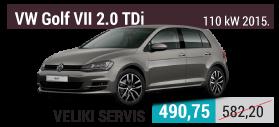 VW Golf 7 2.0 TDi veliki servis